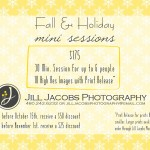 2012 Fall & Holiday Mini Session Pricing